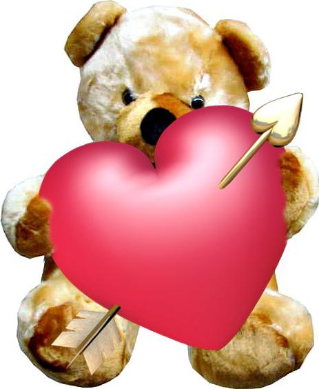 Oso de peluche con corazon
