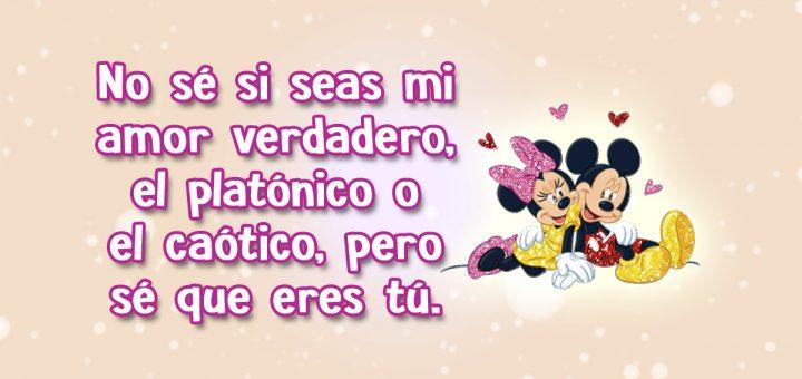 Frases De Amor Cortas Para Dedicar Con Imagenes Gif De Mickey Y Minnie
