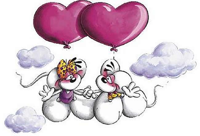 Imágenes de amor - Globos de corazones al aire - descarga gratis a tu celular
